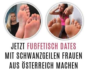 Viele Frauen aus Österreich machen beim Fußfetisch Dating mit.